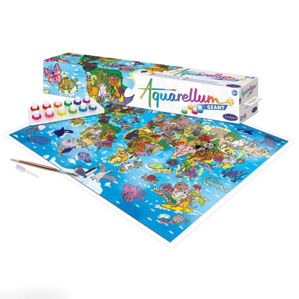 Jeu créatif Aquarellum Géant - Planisphère - Photo n°2