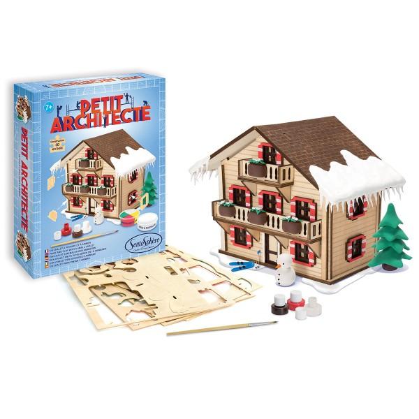 Kit puzzle 3D Petit Architecte - Chalet - Photo n°2
