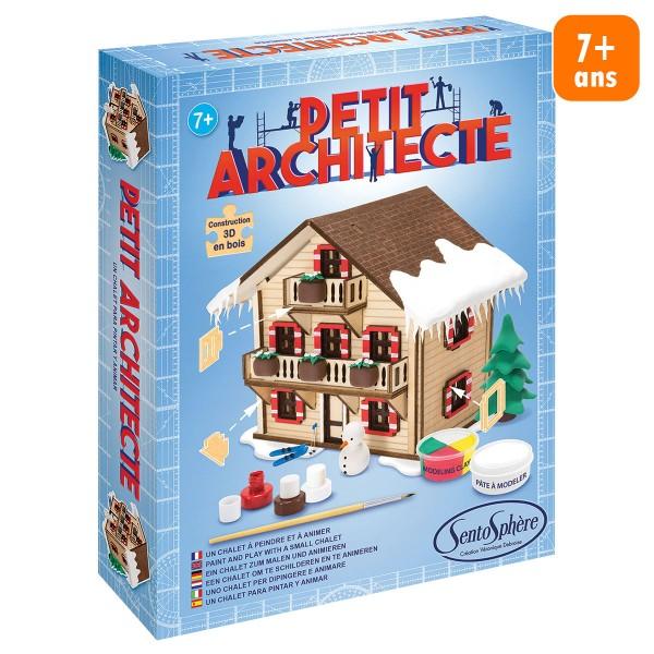 Kit puzzle 3D Petit Architecte - Chalet - Photo n°1
