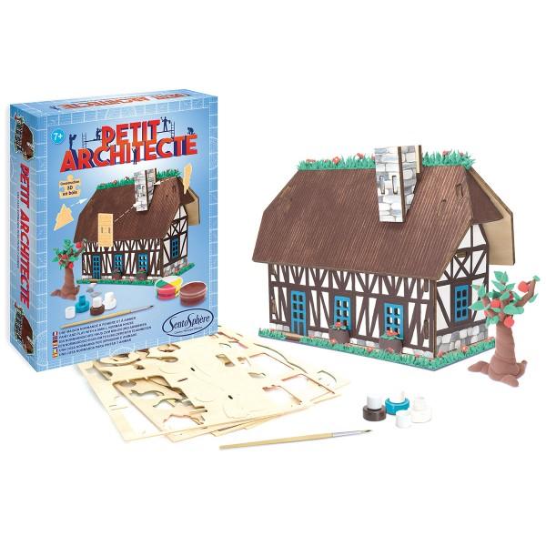 Kit puzzle 3D Petit Architecte - Maison normande - Photo n°2