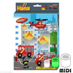 Kit Perles Hama Midi - Pompiers - 2000 perles