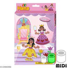 Kit Perles Hama Midi - Princesses - 2000 perles