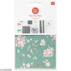 Paper Patch collection Jardin Japonais - Fleurs et koï - 30 x 42 cm - 3 pcs