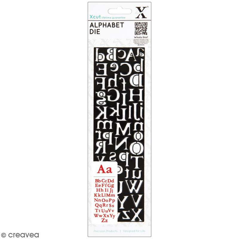Matrice de coupe Xcut - Alphabet Centurion - 1 pce - 52 lettres - Photo n°1
