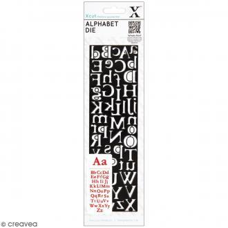 Matrice de coupe Xcut - Alphabet Centurion - 1 pce - 52 lettres