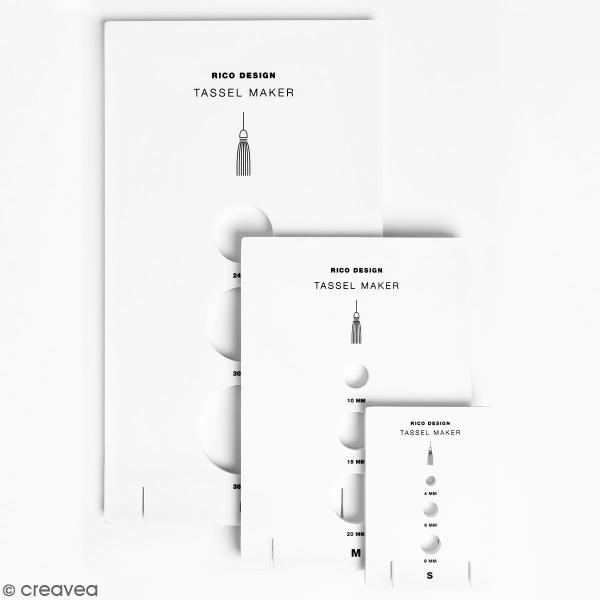 Lot d'Appareils à pampilles Tassel Maker - 4 à 36 mm - 3 pcs - Photo n°1
