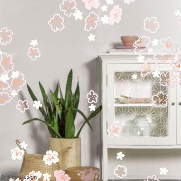 Modèles pour décoration de surfaces vitrées - Jardin Japonais - 60 x 86 cm - 3 designs - Photo n°2