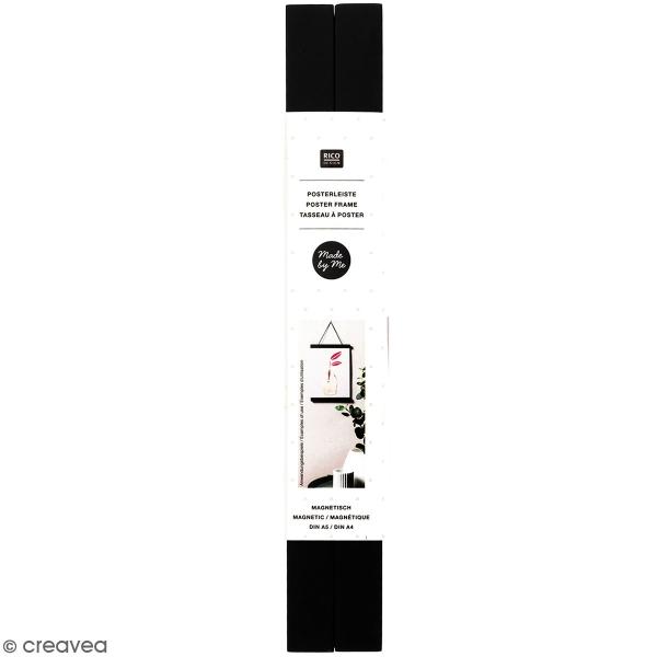 Suspension en bois Noir pour poster - A4 - 1 pce - Photo n°1