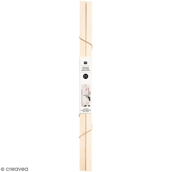 Suspension pour poster en bois Naturel - A3 / A2 - 1 pce - Photo n°1