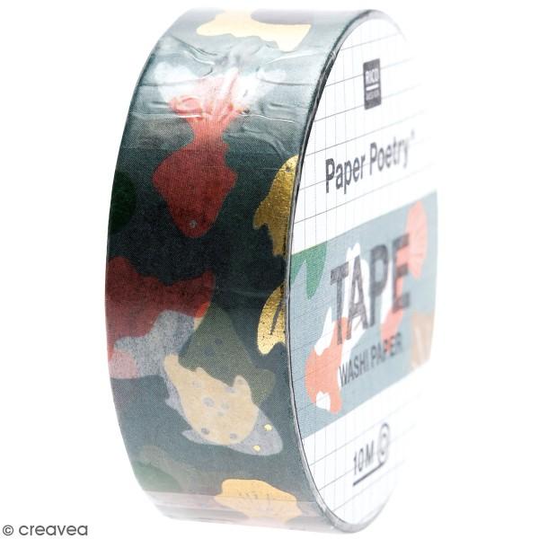 Masking Tape Jardin Japonais - Carpes Koï - 1,5 cm x 10 m - Photo n°1
