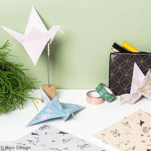 Papier origami Rico Design - Collection Jardin Japonais - 15 x 15 cm - 50 feuilles - Photo n°2