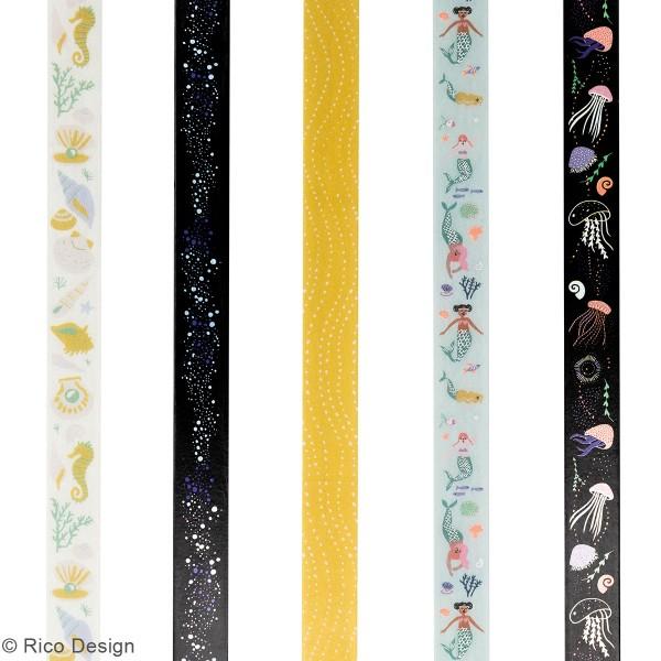 Set de masking tape - Sous la mer - 1,5 cm x 10 m - 5 pcs - Photo n°3