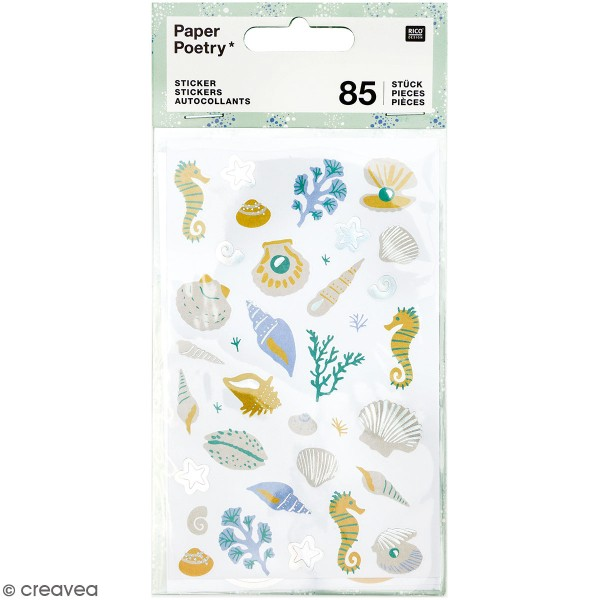 Stickers Rico Design - Coquillages - 85 pcs - Photo n°1