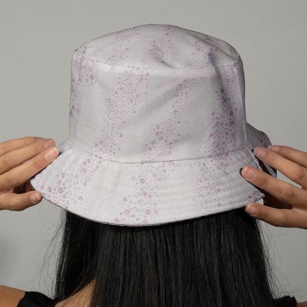 Tissu Molleton sweat à la coupe - Bulles brillantes sur fond Rose - Par 10 cm - Photo n°2