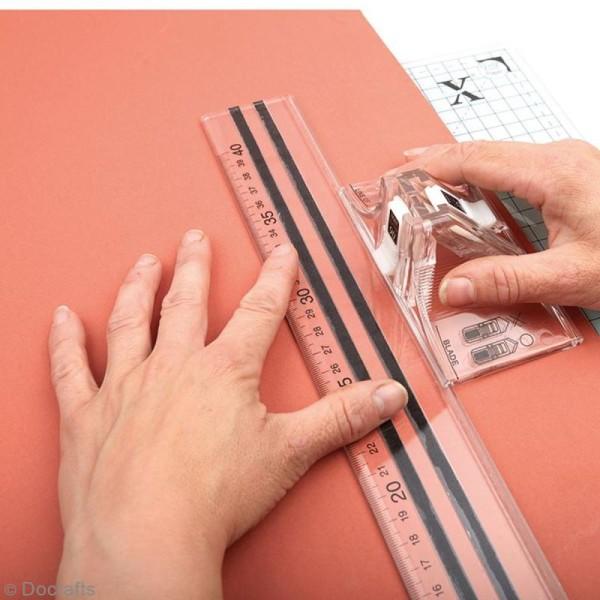 Règle de découpe 40 cm avec lames Xcut - Photo n°2