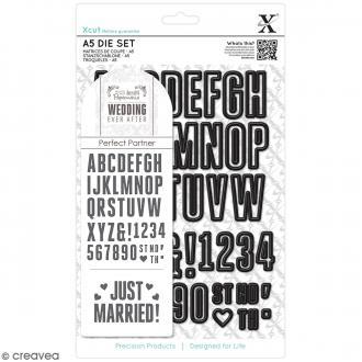 Matrice de coupe Xcut - Alphabet & Chiffres - 48 pcs