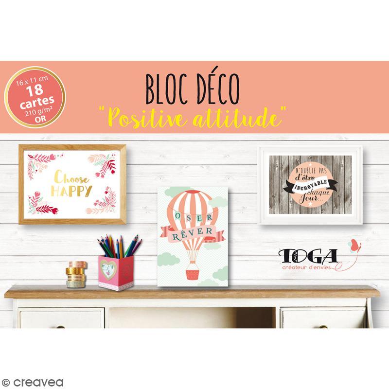 Bloc D Co Cartes Murales Positive Attitude 16 X 11 Cm