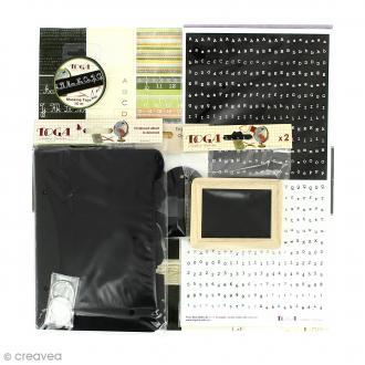 Kit scrapbooking Souvenirs d'école - Papiers & embellissements