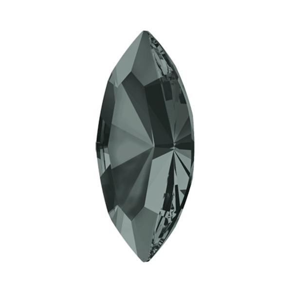 8pcs Diamant Noir 215 Xilion Navette de Pierre de Fantaisie en Verre de Cristaux de forme Ovale Feui - Photo n°2