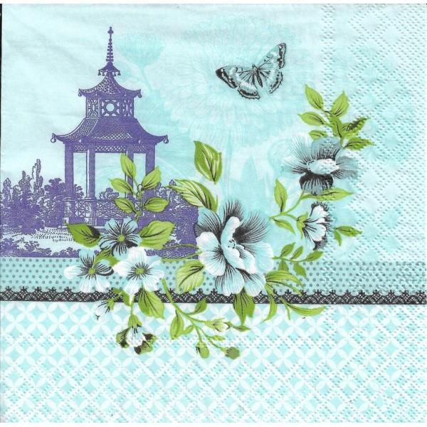 4 Serviettes en papier Asie Pagode Format Lunch Decoupage Decopatch 13313245 Ambiente - Photo n°2