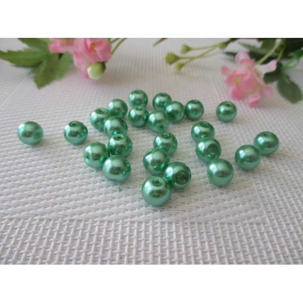 perle nacre x10 goutte bleu //8