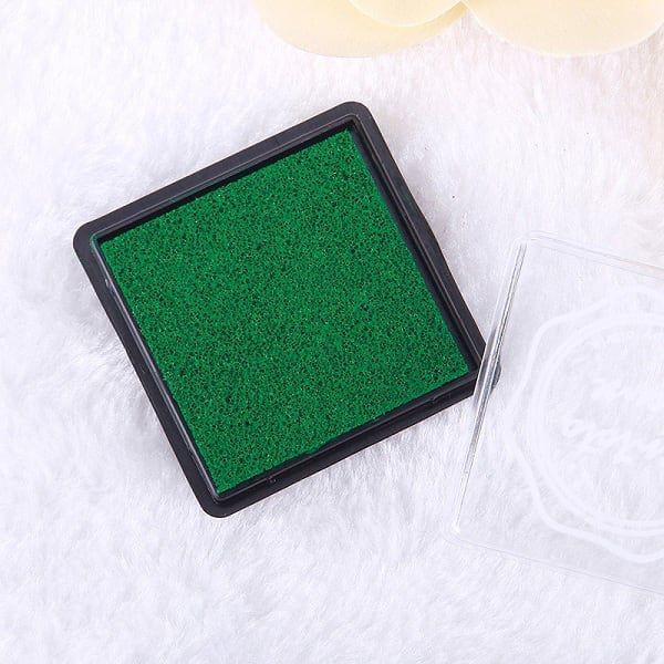 1pc Vert Foncé Carré Éponge Mini Pad d'Encre, de l'Artisanat Doigt Tampon Pour le Bricolage, le Pigm - Photo n°1