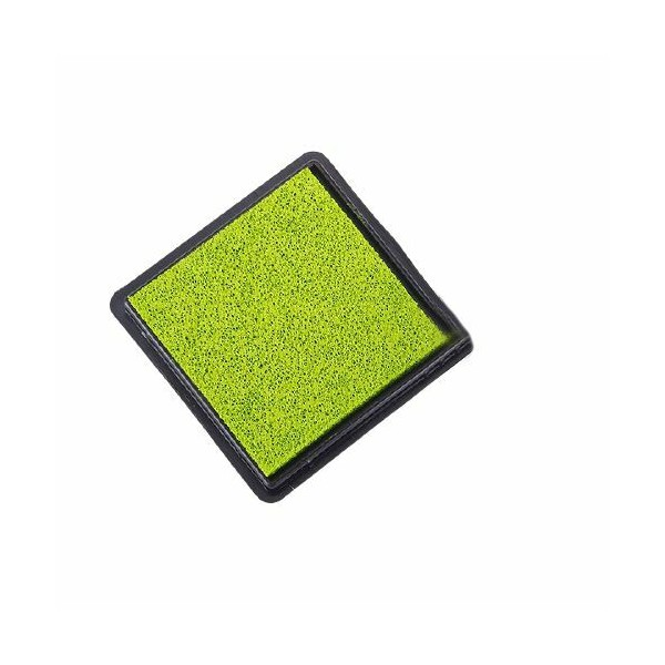 1pc Vert Olive Carré Éponge Mini Pad d'Encre, de l'Artisanat Doigt Tampon Pour le Bricolage, le Pigm - Photo n°1