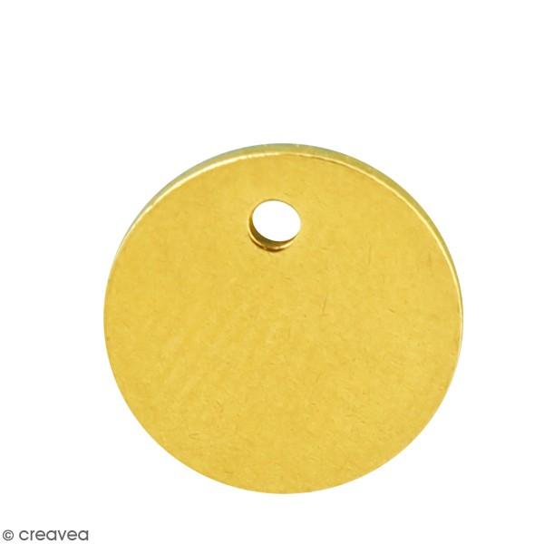Petite médaille en métal doré - 10 mm - Photo n°1