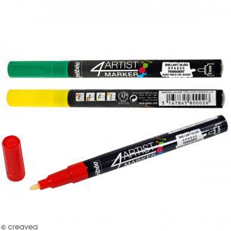 Marqueur à huile 4Artist Marker - Pointe ronde - 2 mm - 10 coloris