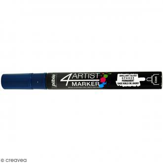 Marqueur à huile 4Artist Marker - Bleu profond - Pointe ronde - 4 mm