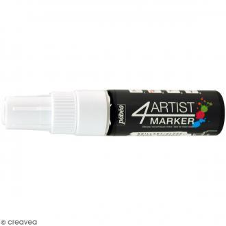 Marqueur à huile 4Artist Marker - Blanc - Pointe biseautée - 8 mm