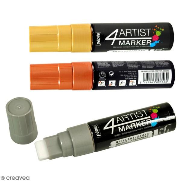 Marqueur à huile 4Artist Marker - Pointe plate - 15 mm - 5 coloris - Photo n°1