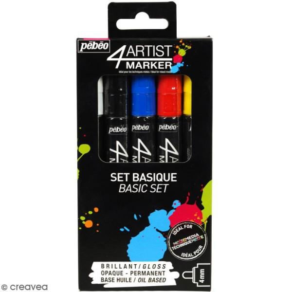 Coffret 4Artist Marker - Basique - 5 marqueurs - Photo n°1