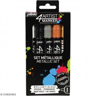 Coffret 4Artist Marker - Métallique - 5 marqueurs