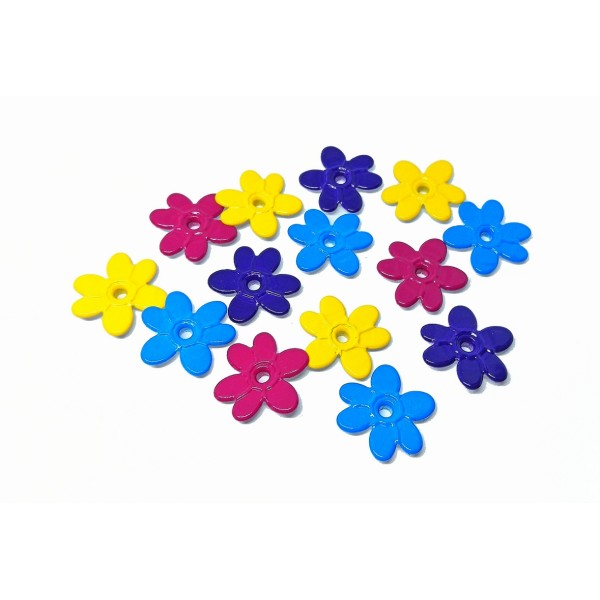 60 Oeillets quicklets fleurs 20 mm eyelets scrapbooking - Photo n°2