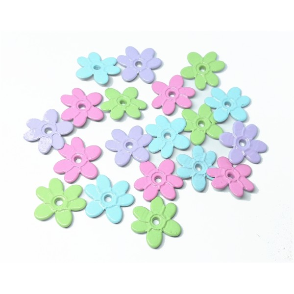 60 Oeillets quicklets fleurs pastels 20 mm eyelets scrapbooking - Photo n°2
