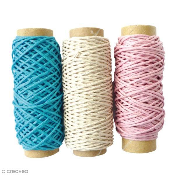Bobines de fil de chanvre - Enfance - 1 mm x 20 m - 3 pcs - Photo n°1