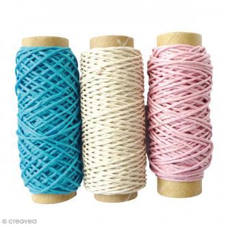 Bobines de fil de chanvre - Enfance - 1 mm x 20 m - 3 pcs