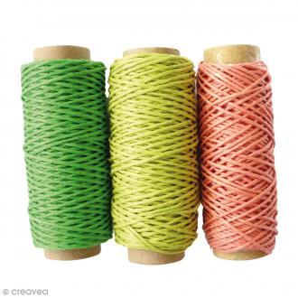 Bobines de fil de chanvre - Forêt - 1 mm x 20 m - 3 pcs