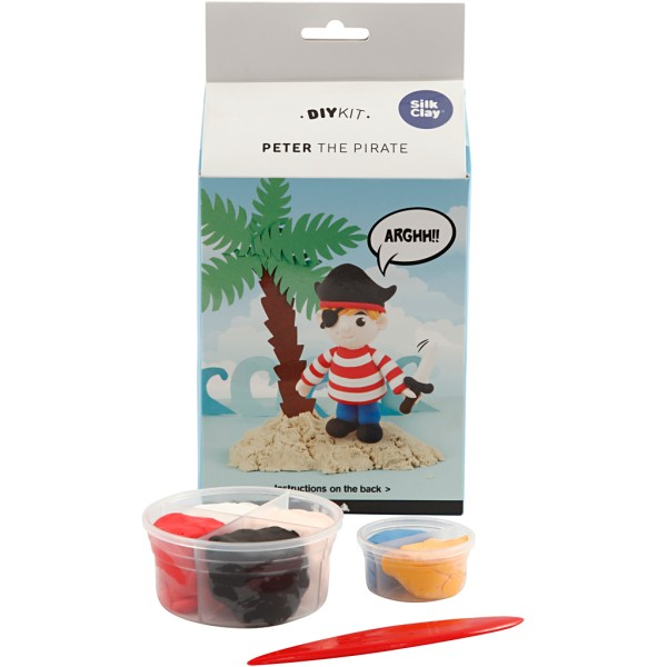Kit Modelage Foam Clay - Pirate - 6 couleurs - Photo n°1