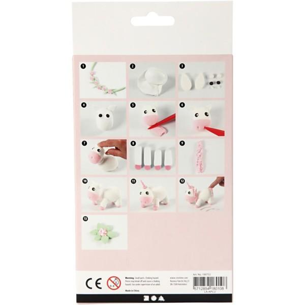 Kit activité enfant - Modelage Silk clay - Licorne rose - Photo n°3