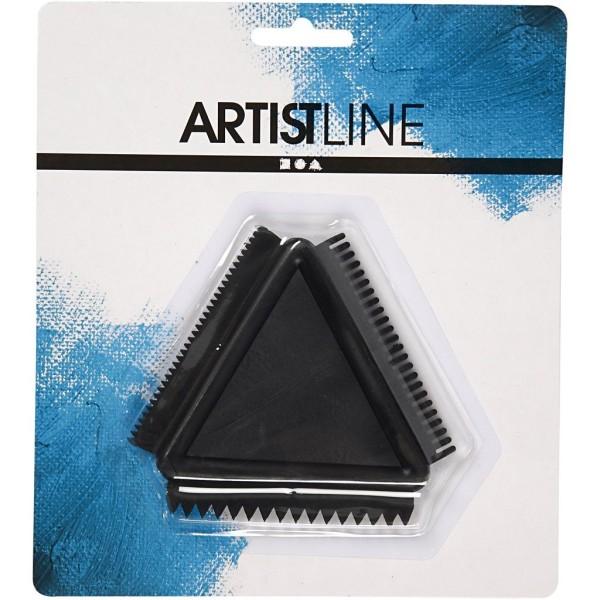 Peigne triangulaire - 3 effets - 9 cm - Photo n°2