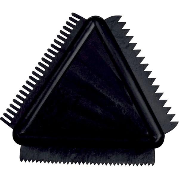 Peigne triangulaire - 3 effets - 9 cm - Photo n°1