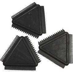 Peignes triangulaires - 3 effets - 9 cm - 3 pcs