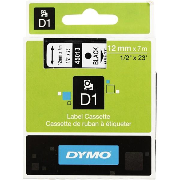 Cassette Dymo D1, L: 12 Mm, Blanc, 7M - Photo n°2