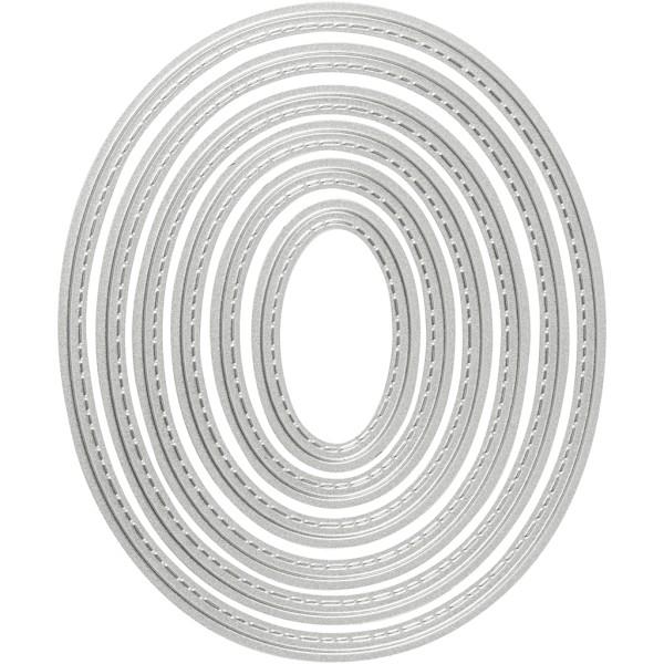 Matrice de coupe - Ovale - 5 à 12 cm - 6 pcs - Photo n°1