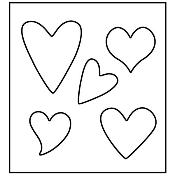 Gabarit de coupe Coeurs - 5 éléments - Photo n°2