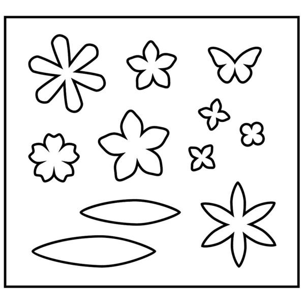Gabarit de coupe Fleurs - 11 éléments - Photo n°2
