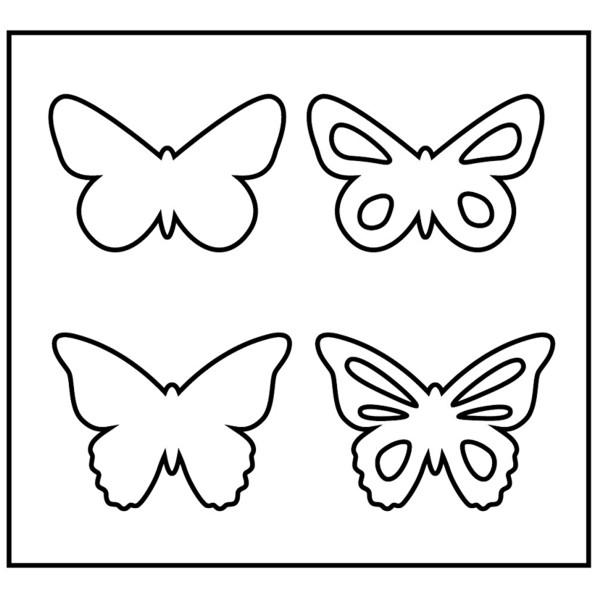 Gabarit de coupe Papillons - 4 éléments - Photo n°2