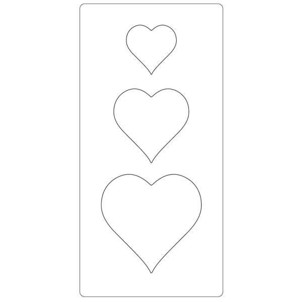 Gabarit de coupe Coeurs - 3 éléments - Photo n°2